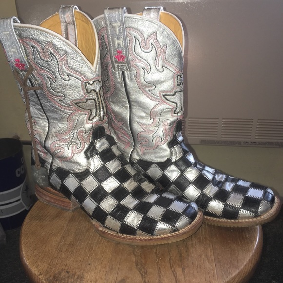 Tin Haul Shoes Mens Hairy Metal Western Boot